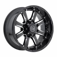 9,0*18 8*165 ET12 120,0 Black Rhino Sierra Gloss Black With Milled Spokes