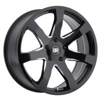 10,0*24 5*150 ET30 110,1 Black Rhino Mozambique Gloss Black With Milled Spokes